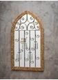 Warm Design Çiçeklik Dekorlu Köknar Duvar Aynası Altın